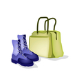 Travel Bag and Women Shoes of Traveller vector image vector image