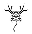 tribal dragon tattoo vector image vector image
