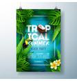 tropical summer beach party flyer design vector image vector image