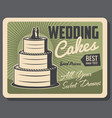 wedding cakes and party pastry service vector image vector image