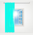 window curtains and stylish vector image vector image