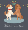 winter love concept cute vector image