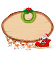 wooden banner christmas theme vector image vector image