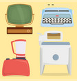 retro vintage household appliances kitchenware vector image