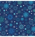Night snowflakes seamless pattern background vector image