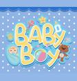 a baby boy logo vector image