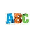 abc concept stamped word art vector image vector image
