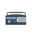 am radio icon flat style vector image