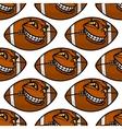 American football balls seamless pattern vector image vector image