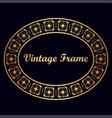 art deco vintage border frame vector image vector image