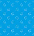 baby carriage pattern seamless blue vector image vector image