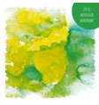 background watercolor stains green yelloy tones vector image vector image