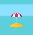 beach umbrella icon flat design vector image vector image
