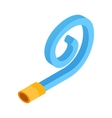 Birthday whistle isometric 3d icon vector image vector image