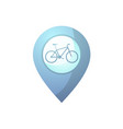 blue bike point vector image vector image