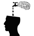 brain supply water into head vector image vector image