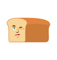 bread winks emoji piece of bread happy emotion vector image
