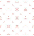 case icons pattern seamless white background vector image vector image