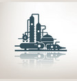 chemical petrochemical or processing plant heavy vector image vector image