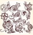 collection decorative swirls for design vector image