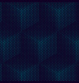 cube pattern abstract geometric background vector image