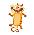 cute cartoon tiger character vector image vector image