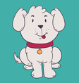 Cute Dog Sitting with Tongue Out vector image vector image