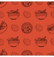 Cute pattern with japanese food vector image vector image