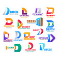 d icons colorful corporate business identity signs vector image vector image