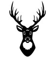 deer head silhouette vector image