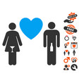 drunky love pair icon with love bonus vector image