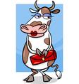 elegant cow cartoon vector image vector image