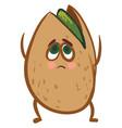 emoji sad pistachio or color vector image vector image
