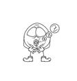 emoticon sleep sketch vector image
