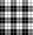 fabric texture seamless pattern black tartan vector image vector image