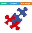 Flat design icon of Puzzle decision vector image