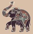 folk art indian elephant dot painting vector image vector image