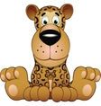 Funny leopard vector image