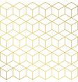 Gold and white cube shape background pattern