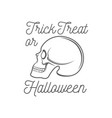 halloween logotype vector image