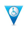 handicap symbol on pointer blue vector image