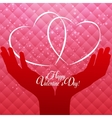 Happy Valentines Day Card with Heart vector image