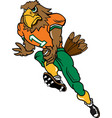 hawk football logo mascot vector image vector image