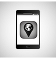 icon smartphone gps map location design vector image vector image