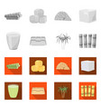 industry and sugarcane icon vector image vector image