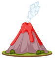 isolated volcano white background vector image