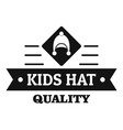 kid hat logo simple black style vector image vector image