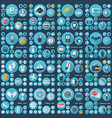 large icons set flat vector image vector image