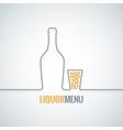 liquor bottle glass shot design background vector image vector image