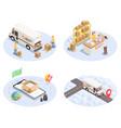 logistics shipment compositions set vector image vector image